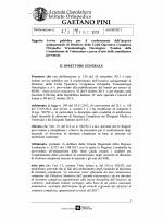 Azienda Ospedaliera - Istituto Ortopedico Gaetano Pini