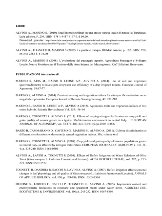 ALVINO A., MARINO S. - Università degli Studi del Molise