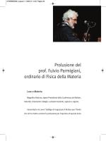 Prolusione del prof. Fulvio Parmigiani, ordinario di