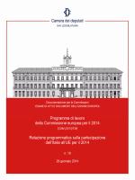 Programma di lavoro della Commissione europea per il 2014