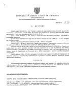 D.R. n. 1228 del 8.10.2014 - Università degli Studi di Genova