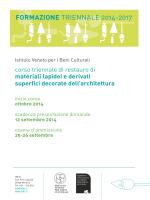 corso triennale 2014-2017 - Istituto Veneto per i Beni Culturali