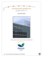 Visualizza la dichiarazione ambientale 2012/2015