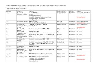 ADOZIONE SCUOLA PRIMARIA DON MILANI 2014-15