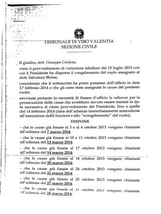 *_ Il giudice, dott. Giuseppe Cardona,
