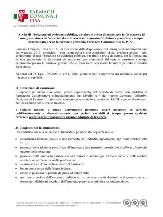 AI DIRIGENTI - Farmacie Comunali Pisa