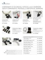 componenti di sicurezza, fotocellule e barriere
