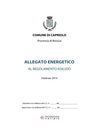 ALLEGATO ENERGETICO - Comune di Capriolo