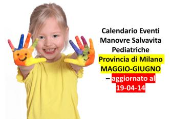 Calendario Eventi Manovre Salvavita Pediatriche Provincia di