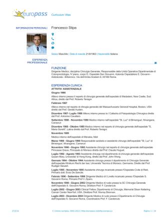 CV versione integrale