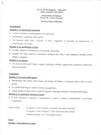 1^ E - Liceo De Ruggieri Massafra