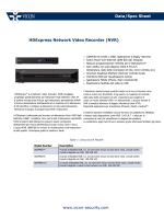 www.vicon-security.com Data/Spec Sheet HDExpress Network