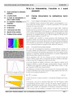0404 La fotometria e la percezione visiva