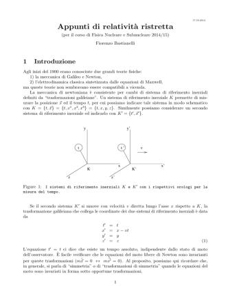 Appunti di relatività ristretta