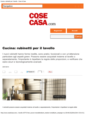 cosedicasa.com - Cristina Rubinetterie