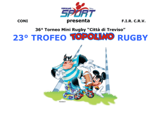 23° TROFEO RUGBY - Benetton Rugby Treviso