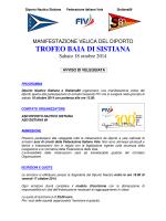 """Veleggiata """"Trofeo BAIA DI SISTIANA"""""""