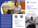 Flyer - Master on line in Finanza e Controllo di Gestione