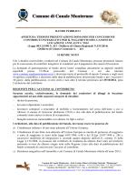 Bando - Comune di Canale Monterano