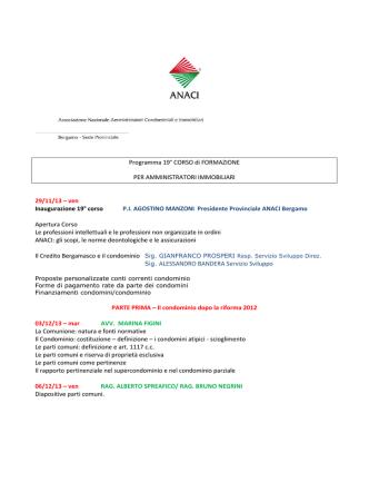 19 corso - ANACI Bergamo