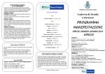 PROGRAMMA MANIFESTAZIONI - Comune di Castions di Strada