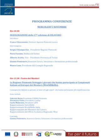 + Scarica il programma in PDF