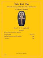 Ankh Djed Was n° 1 - Luglio 2014 - Rito Orientale e Mediterraneo di