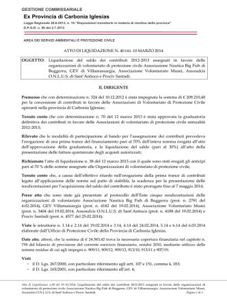 Atto liquidazione n. 40 del 10.03.2014