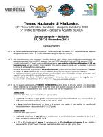 regolamento ufficiale - Santarcangelo Basket