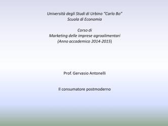 6° Modulo - Facoltà di Economia - Università degli Studi di Urbino