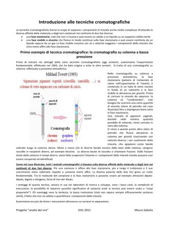 Cromatografia introduzione