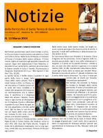 Notizie – marzo 2014 - Parrocchia Santa Teresa