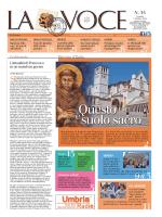 La Voce n.35 del 3 Ottobre 2014