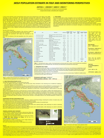 3 – wolf population estimate in italy