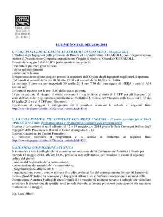 1319N_24 aprile 2014 - Ordine degli Ingegneri della Provincia
