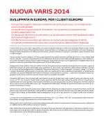 nuova yaris 2014 sviluppata in europa, per i clienti europei