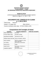 DOCUMENTO DEL CONSIGLIO DI CLASSE a. s. 2013/2014
