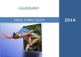 Calendario Provinciale Estivo 2014 - FIDAL Como