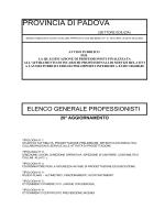 Elenco generale dei professionisti qualificati aggiornato al 31/12/2013