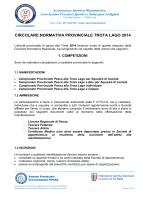 circolare normativa provinciale trota lago 2014
