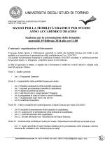 bando Erasmus 2014/2015 - Progetto Socrates