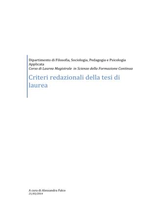 Criteri redazioni tesi di laurea magistrale SFC