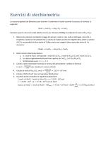 Esercizi di stechiometria