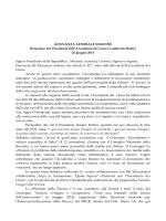 Relazione - Accademia Nazionale dei Lincei