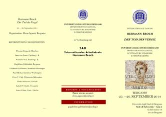 25. – 26. SEPTEMBER 2014 - Università degli studi di Bergamo