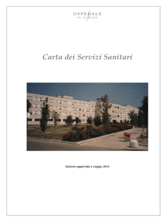 Carta dei Servizi Sanitari