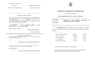 Delibera G.C. N.85 del 12.06.2014== Servizio
