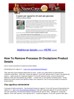 How To Remove Processo Di Ovulazione Product Details