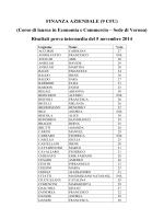 FINANZA AZIENDALE (9 CFU) (Corso di laurea in Economia e