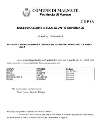 Delibera di Giunta n.48 del 14_4_2014